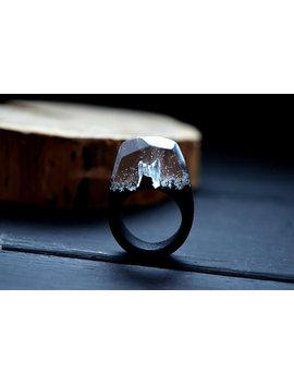Epoxy Wood Ring Resin Wood Ring Wooden Ring Gift For Women Magic Wood World Terrarium Ring Terrarium Jewelry Secret World Mountain Ring by Etsy