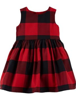 Buffalo Check Holiday Dress by Carter's