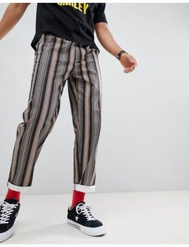 Asos Design Festival Straight Trousers In Grey Aztec Print With Elasticated Waist by Asos Design