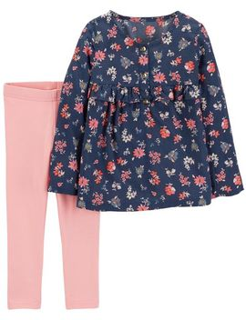 2 Piece Floral Top & Legging Set by Carter's