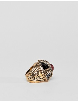 Asos Design Statement Dome Jewel Ring by Asos Design