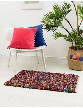 Ian Snow Multi Coloured Reversible Cotton Pile Rug by Ian Snow