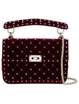 Valentino Spike Media Shoulder Bag Home Donne Borse Borse A Tracolla by Valentino