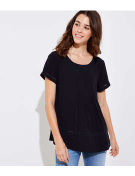 Cutout Pintucked Top by Loft