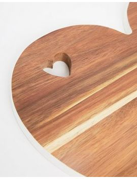 Mimo By Premier Heart Chopping Board With White Edge by Asos