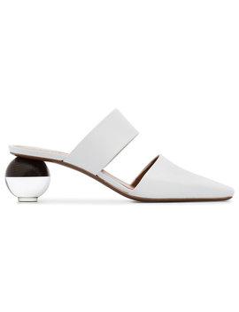 Neouswhite Masdevallia 55 Leather Muleshome Women Shoes Mules by Neous