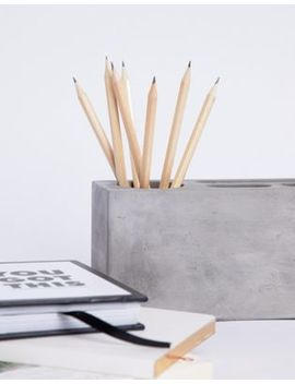 Moxon & Korridor Office Block Concrete Desk Tidy by Asos