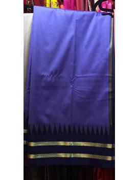 Sale Art Silk Saree, Sari, Temple Design, Saree Fabric, Art Silk Sari Fabric, Indian Dress, Indian Clothing, Sari Curtain, Blue Sari by Etsy