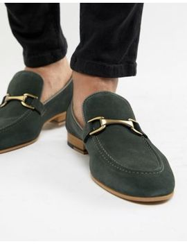 River Island Suede Loafer In Green by River Island