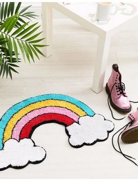 Sass & Belle Patches & Pins Rainbow With Cloud Rug by Sass & Belle