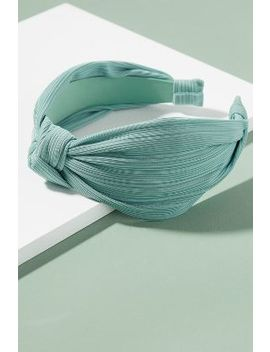 Hulda Pleated Knot Headband by Anthropologie