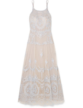 Celestine Embroidered Tulle Nightdress by I.D. Sarrieri