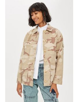 Sand Camouflage Shacket by Topshop