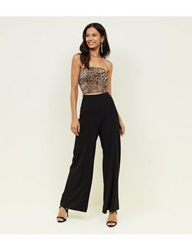 Black Wide Leg Evening Trousers by New Look