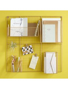 Gold Wire Adjustable Wall Organizer by World Market