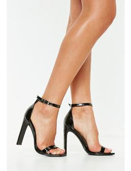 Black Square Toe Illusion Barely There Heels by Missguided