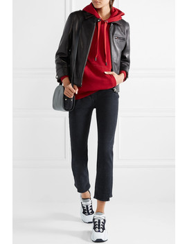 Cropped Leather Biker Jacket by Acne Studios