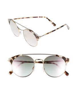 D'blanc X Amuse Society Dosed Marquis 52mm Gradient Round Aviator Sunglasses by Dblanc