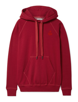 Malibu Flocked Cotton Blend Jersey Hooded Top by Isabel Marant Étoile