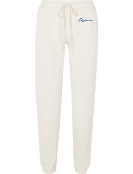 Embroidered Cotton Terry Track Pants by Re/Done
