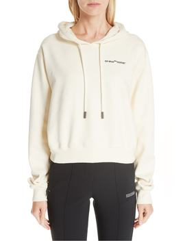 Quotes Crop Hoodie by Off White