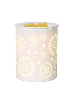 Coosa Ceramic Sunflower Pattern Oil Warmer Electric Incense Wax Tart Burner Fragrance Candle Wax Warmer Night Light Aroma Decorative Lamp For Home Office Bedroom Living Room Gifts & Decor by Coosa