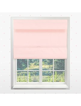 "Chicology Cordless Magnetic Roman Shades/Window Blind Fabric Curtain Drape, Thermal, Room Darkening   Rose Pink, 48""W X 64""H by Chicology Kids"