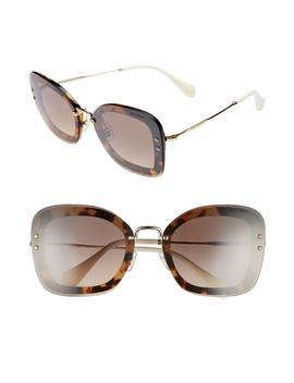 65mm Gradient Oversize Sunglasses by Miu Miu
