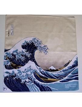 "Japanese Furoshiki Oriental Hokusai's 'the Great Wave Off Kanagawa' Wrapping Cloth 19"" X 19"" by Etsy"