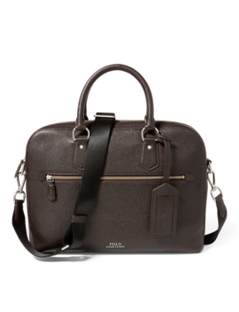 Pebbled Leather Briefcase by Ralph Lauren