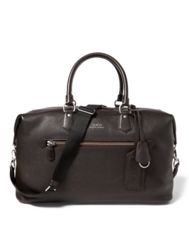 Pebbled Leather Duffel Bag by Ralph Lauren