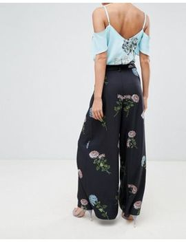 Oasis Floral Printed Culotte Trousers by Oasis