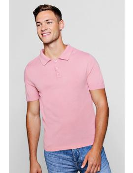 Soft Touch Knitted Polo by Boohoo