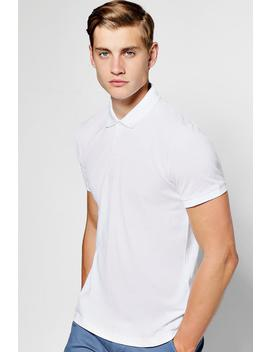 Short Sleeve Pique Polo by Boohoo