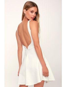 Special Kind Of Love White Backless Skater Dress by Lulu's