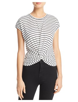 Twist Front Striped Tee   100 Percents Exclusive by Aqua