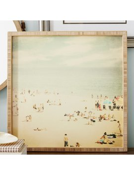Beachcrest Home Vintage Beach Framed Photographic Print Plaque & Reviews by Beachcrest Home