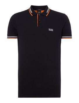 Paul Slim Fit Tipped Pique Polo Shirt by Hugo Boss