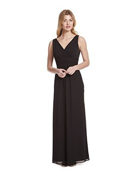 Samantha Paige V Neck Sleeveless A Line Floor Length Chiffon Formal Dress by Samantha Paige