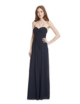 Samantha Paige Strapless Ruched A Line Floor Length Chiffon Formal Dress by Samantha Paige