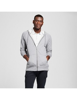 Men's French Terry Full Zip Long Sleeve Hooded Overcoat   Goodfellow & Co™ by Goodfellow & Co™