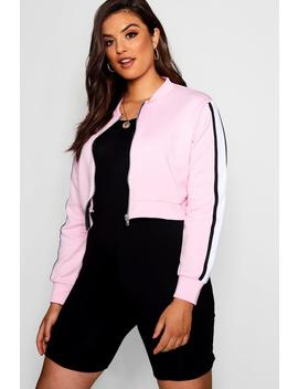 Plus Scuba Sports Trim Bomber Jacket by Boohoo