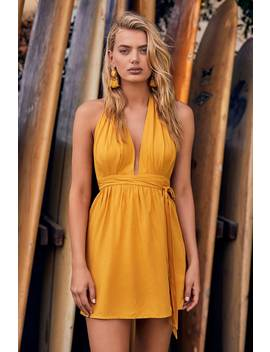 Positively Perfect Mustard Yellow Wrap Dress by Lulu's