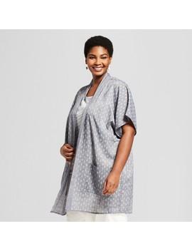 Women's Plus Size Printed Kimono   Universal Thread™ Gray X by Universal Thread™