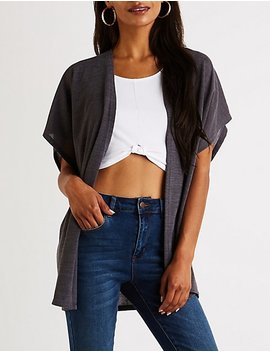 Longline Open Front Cardigan by Charlotte Russe