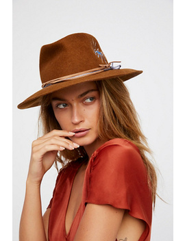 Visionary Embroidered Felt Hat by Free People