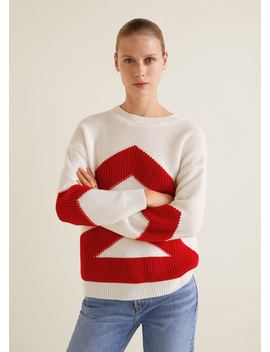 Pulover Din Tricot Contrastant by Mango