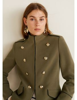 Jachetă Stil Militar Cu Mărgele by Mango