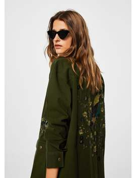 Jachetă Brodată Oversize by Mango