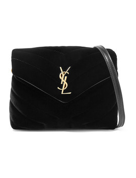 Loulou Quilted Velvet Shoulder Bag by Saint Laurent
